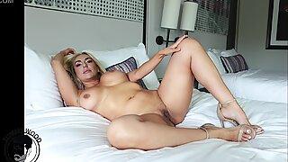 Blonde milf  with big ass and huge boobs  getting hard fuck  latina pornstar  Kylie Kingston