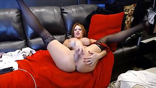 wild ultra-cutie Jade toying with huge tits and gaping cunt